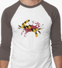 Maryland Flag Crab Men's Baseball ¾ T-Shirt