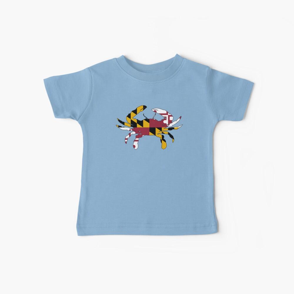 Cangrejo de la bandera de Maryland Camiseta para bebés