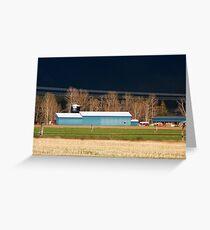 Stormy Montana Farm Greeting Card