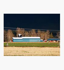 Stormy Montana Farm Photographic Print