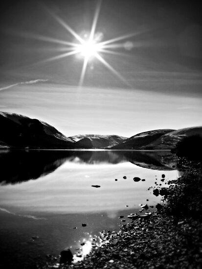 Sparkling Sun light Over St.Mary's Loch,Scotland. by Aj Finan