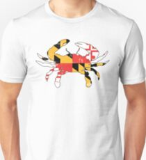 Maryland Flag Crab - Distressed Unisex T-Shirt