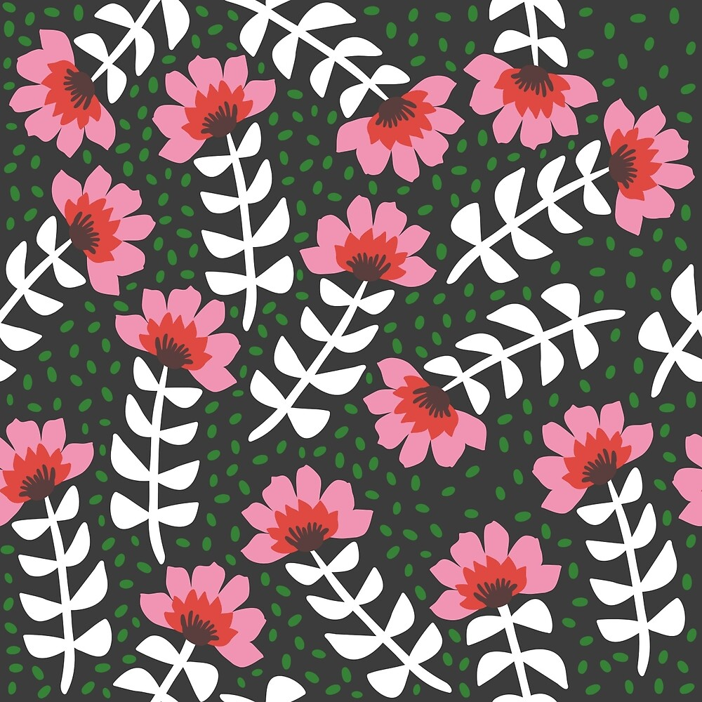 0 Camelita Retro Folk Flower by caligrafica