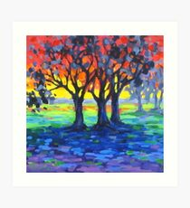 Rainbow World Colorful Painting Art Print