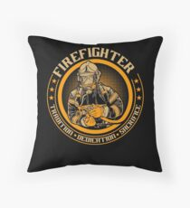 Firefighter by tradition Throw Pillow