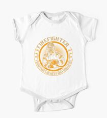 Firefighter by tradition Short Sleeve Baby One-Piece