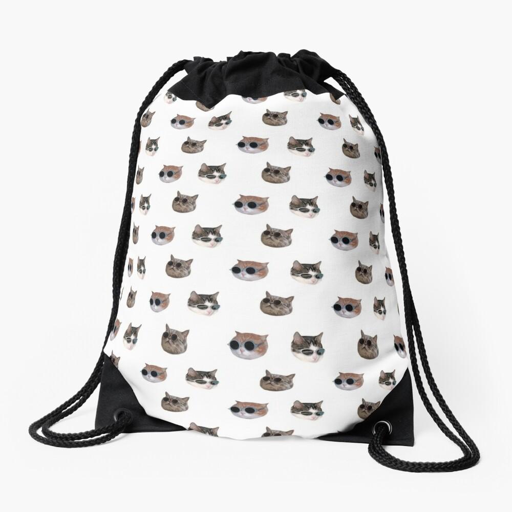 Cool Kitties Sticker-pack Drawstring Bag