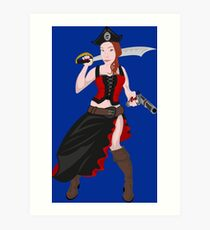 Kindra The Wicked Pirate  Art Print