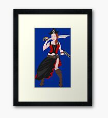 Kindra The Wicked Pirate  Framed Print