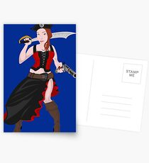 Kindra The Wicked Pirate  Postcards