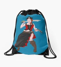 Kindra The Wicked Pirate  Drawstring Bag