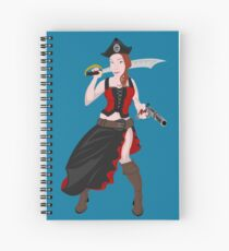 Kindra The Wicked Pirate  Spiral Notebook