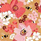 «Abejorros y polen» de nadyanadya