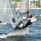Hochschulkinder im Wettbewerb - Segelrennen. von sunnypicsoz