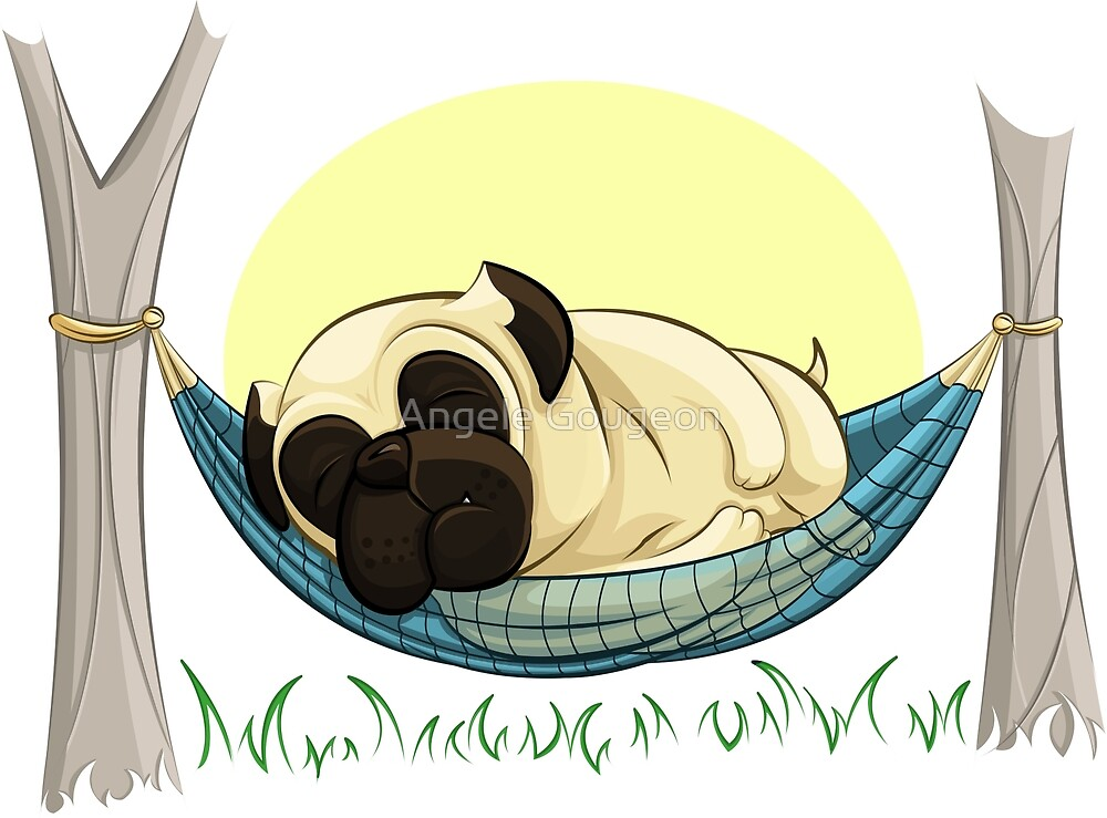 Pug in a Hammock by AnMGoug