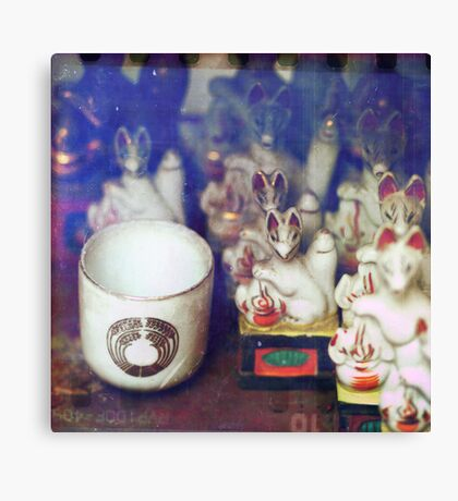 Cup and Foxes Canvas Print