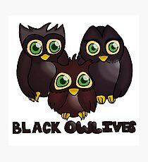 Black Owl-ives Photographic Print