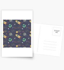 nahtlose Muster zum Thema Raum Postkarten