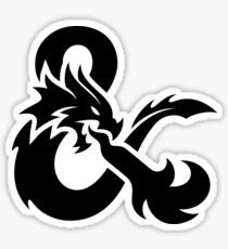 Dungeons and Dragons Logo Sticker