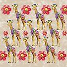 Sweet Giraffes by ShelleyYlstArt