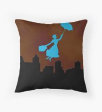 Firey Mary Poppins  Throw Pillow