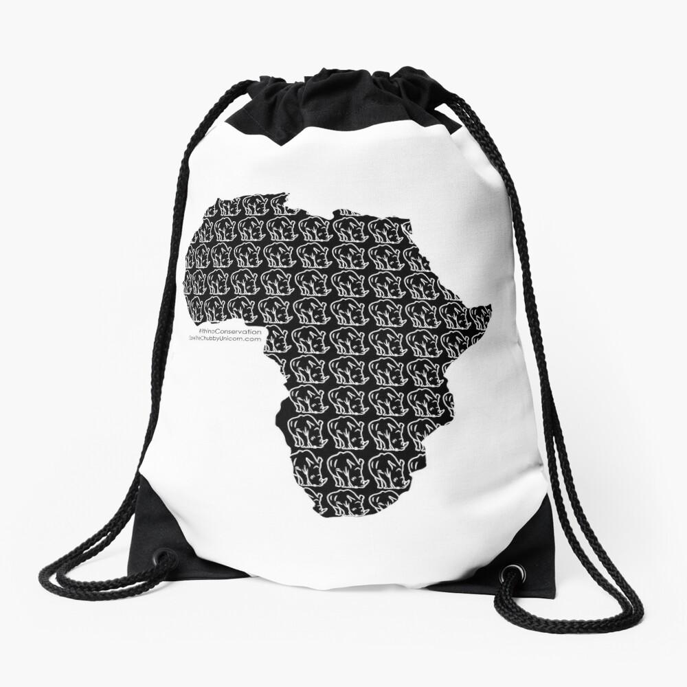 Save The Chubby Unicorn Africa Drawstring Bag
