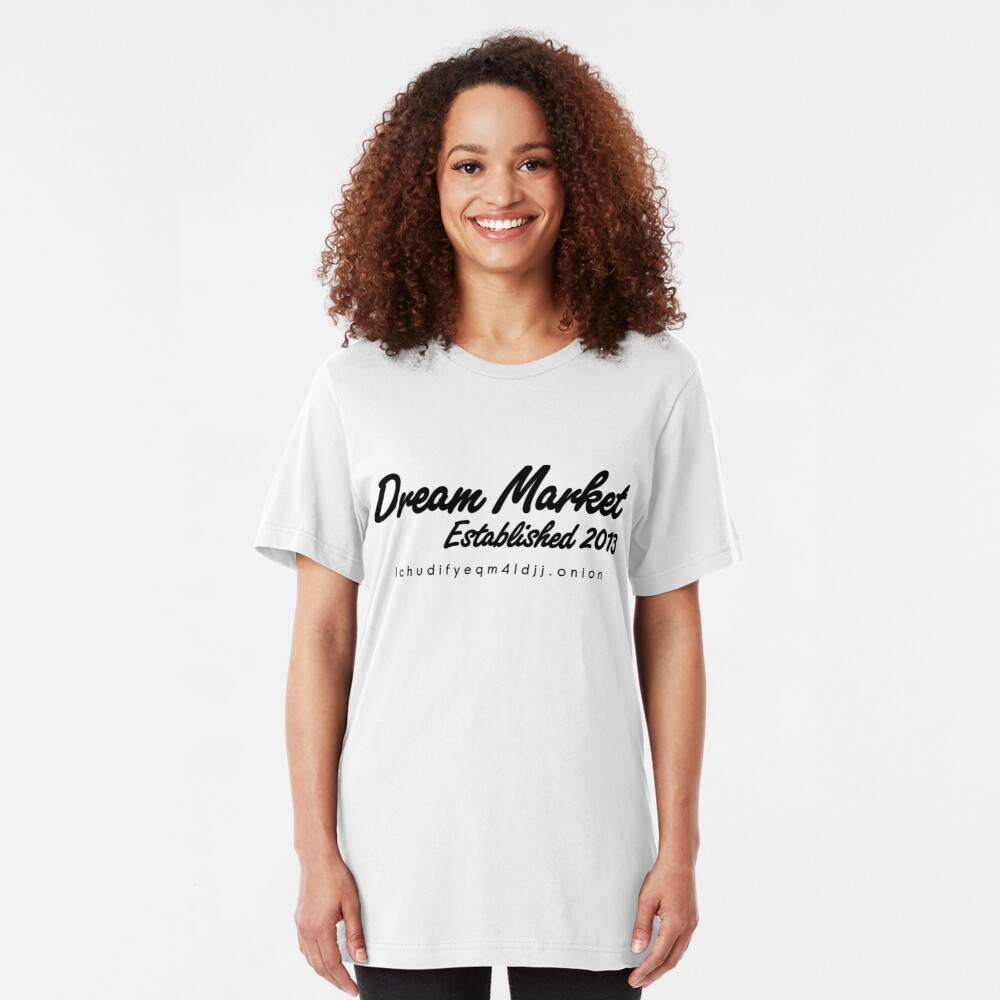 Dream Market with URL Slim Fit T-Shirt
