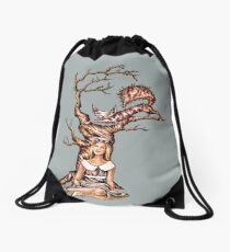 Alice in Wonderland with Cheshire Cat in Tree Sac à cordon