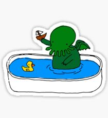 Pegatina Bathtime for Cute-thulhu
