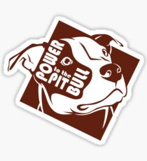 Power to the Pit Bull Sticker