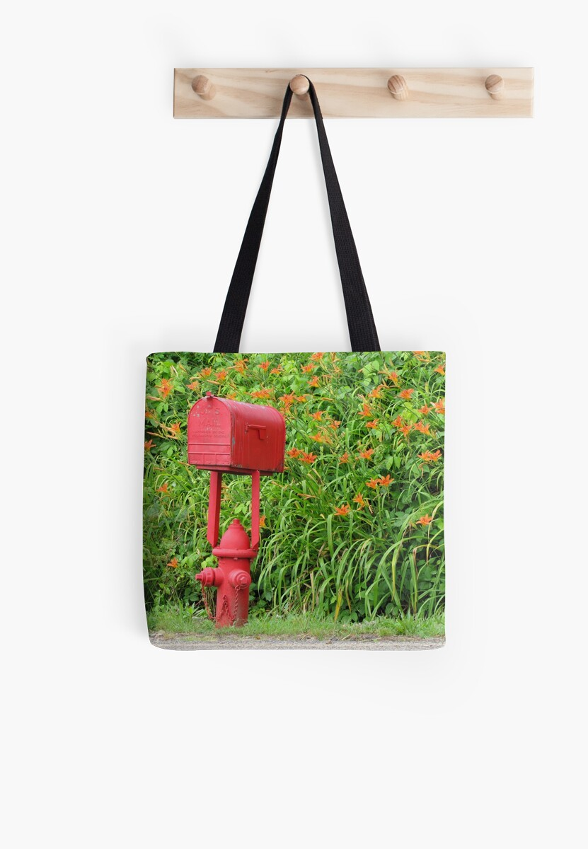 Quot Firehouse Mailbox And Fire Hydrant Quot Tote Bag By Jgevans