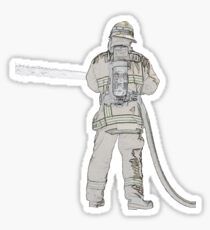 Firefighters are Real Heroes, Image 5 Sticker