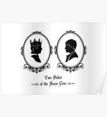 Two Sides of the Same Coin (black) Poster