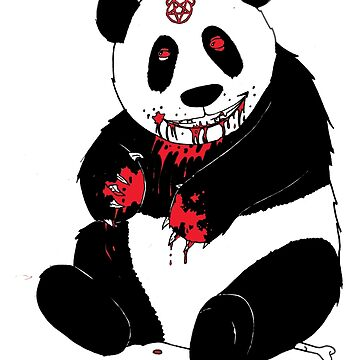 deathmetal panda by DanFree