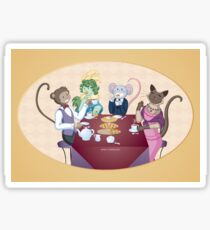 Animal Tea Party Sticker
