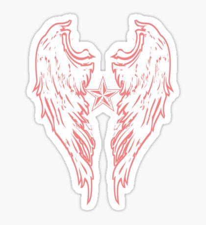 Angel Wings Wht Sticker