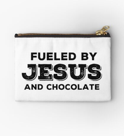 Fueled by Jesus and chocolate Studio Pouch