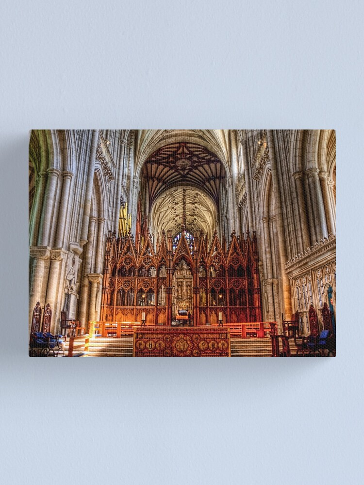 Alternate view of Winchester Cathedral - The Altar Canvas Print