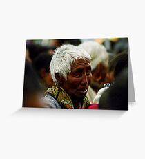 part of the crowd. tabo, northern india Greeting Card