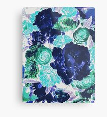 Bouquet in Blue - Floral Art - Flower Lovers Gift Metal Print