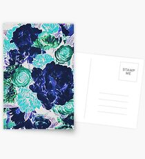 Bouquet in Blue - Floral Art - Flower Lovers Gift Postcards