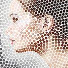 «Perfil de la cara puntillismo arte» de Looly Elzayat