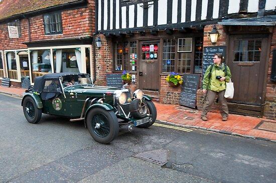 Old Classic Car - Ancient English Village by DonDavisUK