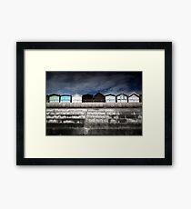 Small Huts, Big World Framed Print
