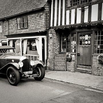 Classic Car No2: Ancient Alfriston Village, Sussex, UK. by DonDavisUK