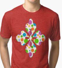 Colorful Polka Dots Tri-blend T-Shirt