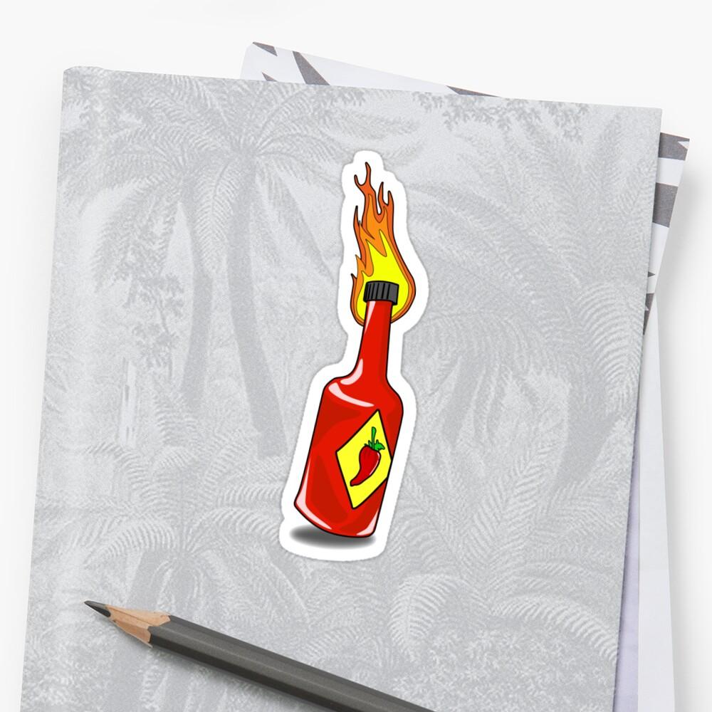Cartoon Hot Sauce Sticker