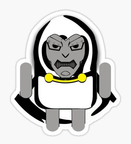 DoomDROID (basic screened variant) Sticker