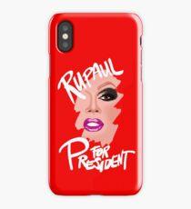 RuPaul for President- White Text iPhone Case/Skin