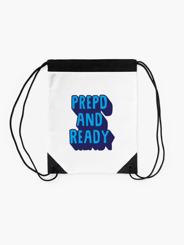 Alternate view of PrEP'D and Ready Drawstring Bag